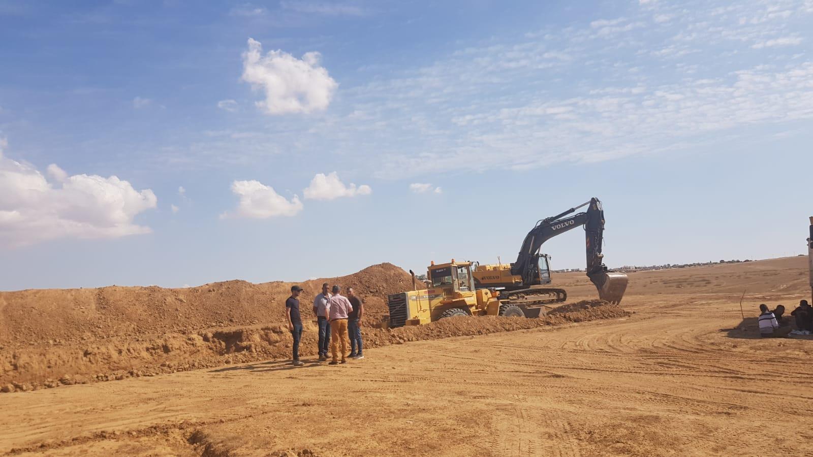עבודות עפר בצומת שוקת 1